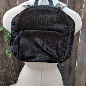 Pink Velvet Mini Backpack
